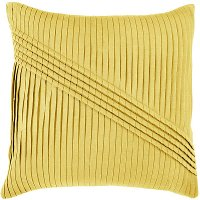 Yellow Pleated 22 Inch Throw Pillow