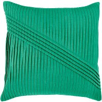 Emerald Green Pleated 22 Inch Throw Pillow