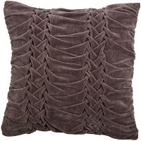 Dark Taupe Embroidered 18 Inch Throw Pillow