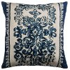 30's Style Cotton Flax Throw Pillow