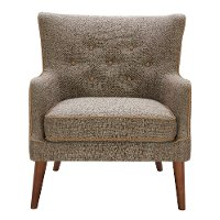 Brown Transitional Accent Chair - Avanti