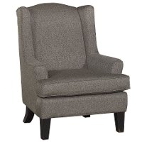 Classic Nightingale Gray Wingback Chair - Andrea