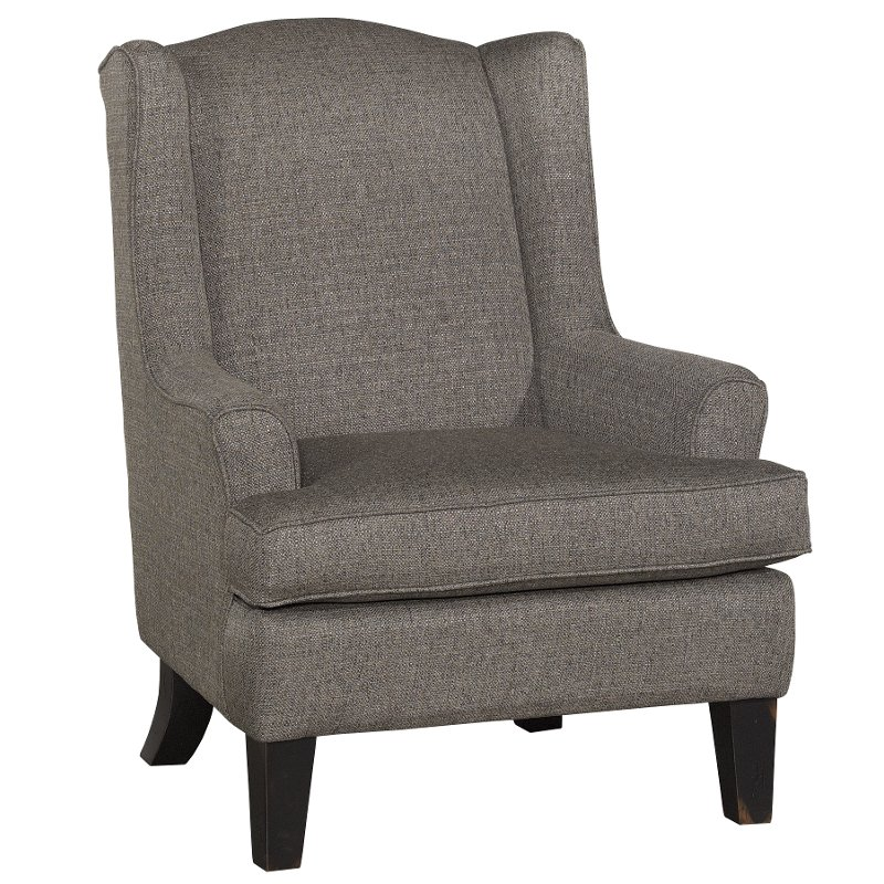 Bon Classic Nightingale Gray Wingback Chair   Andrea