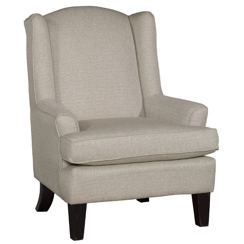 Superbe Linen Wing Chair   Andrea