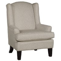 Linen Wingback Chair - Andrea