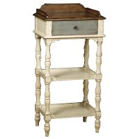 Colbert White/Gray Accent Table
