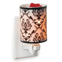 PIDP/PLUGIN/WARMER Black and White Damask Pluggable Fragrance Warmer - Candle Warmers