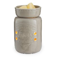 MWFFF/MID/WARMER Faith Family Friends Mid-Size Illumination Fragrance Warmer - Candle Warmers