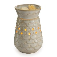 MWSCA/MID/WARMER Scalloped Vase Mid-Size Illumination Fragrance Warmer - Candle Warmers