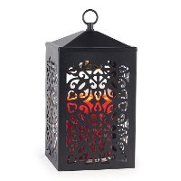 SCBLK/WARMER Black Metal Scroll Candle Warmer Lantern - Candle Warmers
