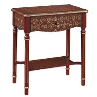 Red and Gold Accent Table