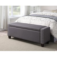 Slate Storage Bed Bench