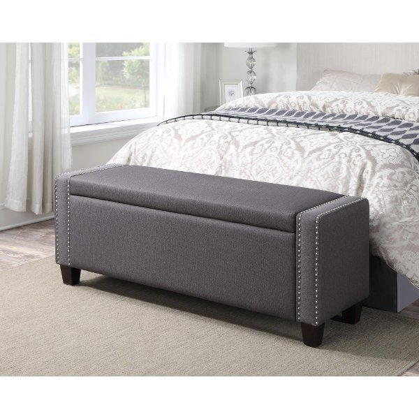 Ordinaire ... Slate Storage Bed Bench