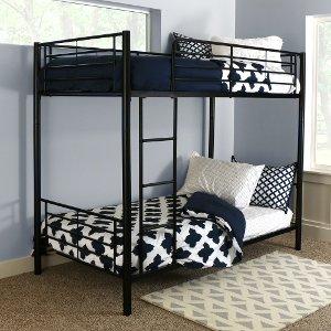 black metal bunk bed