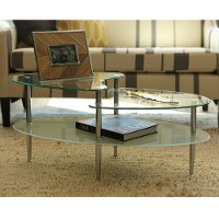 Multi-Level Clear Glass Top Coffee Table