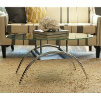 Clear Glass Top  Coffee Table with Shelf
