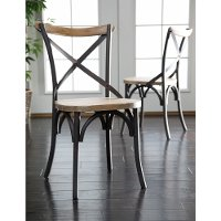 Reclaimed Brown/Black Dining Chair Pair