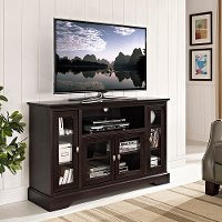 Espresso Wood TV Stand (52 Inch)