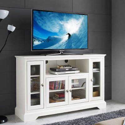White Wood Highboy TV Stand | RC Willey Furniture Store