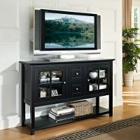 Black Wood Table TV Stand (52 Inch)