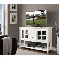 White Wood TV Stand (52 Inch)