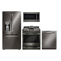 LG-DIA-4PC-4DR-GAS LG Collection 4 Piece Kitchen Appliance Package - Diamond