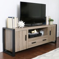 60 Inch Contemporary Driftwood TV Stand