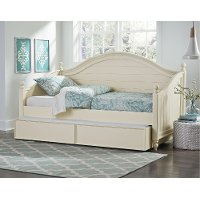 Camellia Marshmallow White Twin Daybed With Trundle Rc