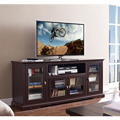 Espresso TV Stand 70 Inch RC Willey Furniture Store