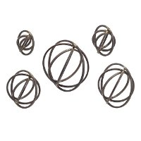 Metal Spheres Wall Decor Set of 5