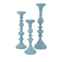 13 Inch Blue Candle Holder