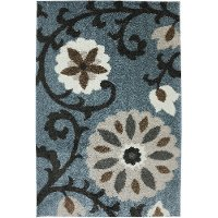 5 x 8 Medium Transitional Blue Rug - Augusta