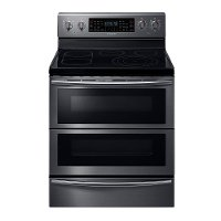 NE59J7850WG Samsung Double Oven Electric Range - 5.7 cu. ft. Black Stainless Steel