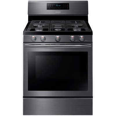 NX58J5600SG Samsung Gas Range with Stovetop Griddle - 5.8 cu. ft. Black Stainless Steel