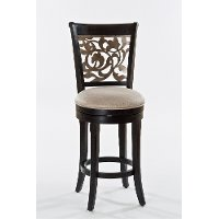 5559-830 Distressed Black Swivel Bar Stool - Bennington