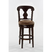 5572-826A Dark Brown Swivel Counter Stool - Burkard