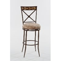 5594-830 Brown Swivel Bar Stool - Compton