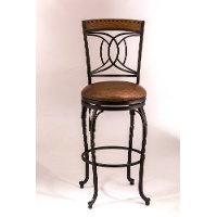 5701-826 Antique Brown Swivel Counter Height Stool - Donovan