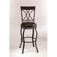 5670-830 Traditional Black and Brown 30 Inch Swivel Bar Stool - Kirkham