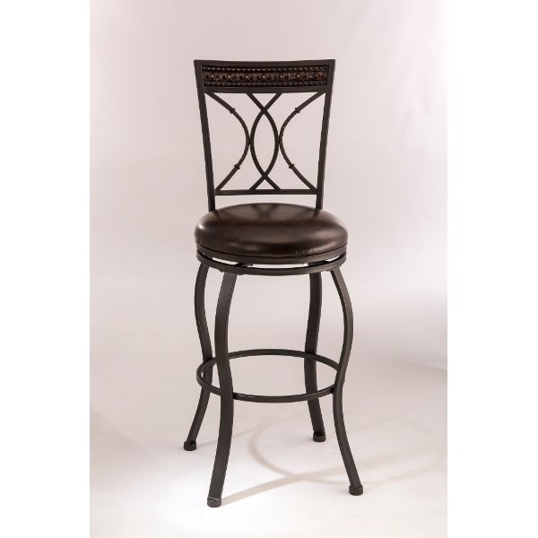 74da59fdcb638a ... 5670-830 Traditional Black and Brown 30 Inch Swivel Bar Stool - Kirkham
