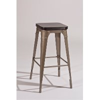 5733-832 Gray/Black Bar Stool - Morris