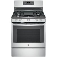 JGB700SEJSS GE 5.0 cu. ft. Gas Range with Non-stick Griddle - Stainless Steel
