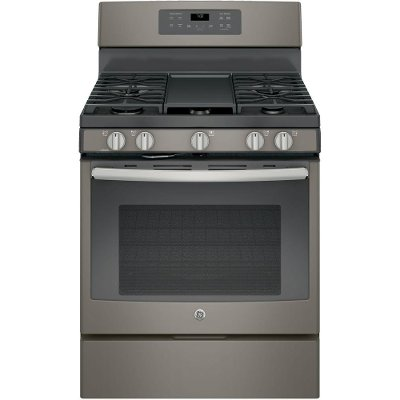 JGB700EEJES GE 5.0 cu. ft. Gas Range with a Center oval burner - Slate
