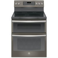 JB860EJES GE Double Oven Electric Range - 6.6 cu. ft. Slate