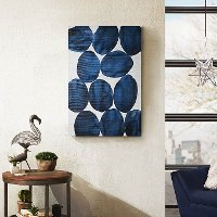 Blue Painted Puzzle Bold Watercolor Canvas Wall Art
