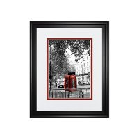 Red Telephone Booth Framed Wall Art