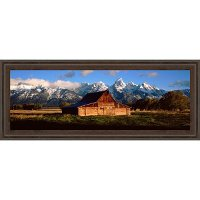 Alma Moulton Barn and Mountains Framed Wall Art