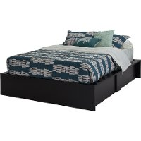 3107222 Black Queen Ottoman Storage Bed - Step One