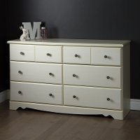 9031027 White 6-Drawer Double Dresser - Country Poetry