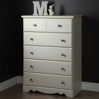 9031035 White 5-Drawer Chest - Country Poetry